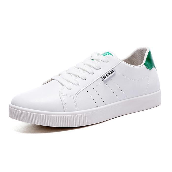 Chaussure homme 2017 ete Nouvelle arrivee Classique Nouvelle arrivee Sneaker hommes Antidérapant Marque De Luxe chaussures Vert Vert - Achat / Vente basket  - Soldes* dès le 27 juin ! Cdiscount