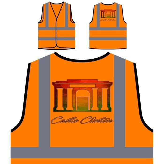 Protection À De Orange Visibilité Personnalisée Clinton Veste Haute new Castle Polygonal Oq5xpU