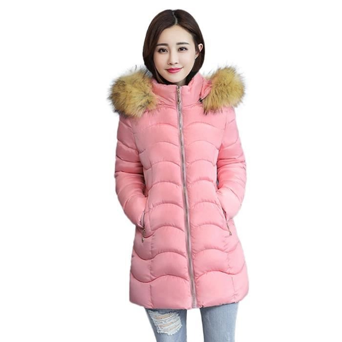 Capuchon Veste Fausse Long Manteau Slim Pageare4160 Épais Chaud En Femmes Les D'hiver À Fourrure qvwvU8