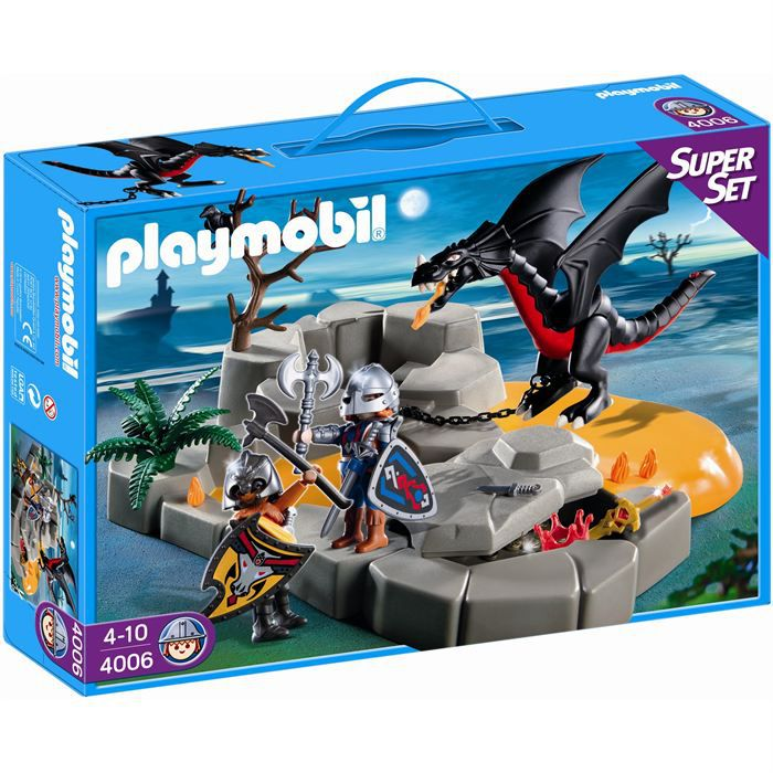 playmobil superset chevaliers dragons - Playmobile Chevalier