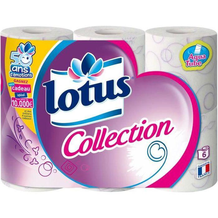 PAPIER TOILETTE LOTUS Collection - 6 rouleaux