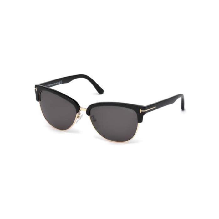 a6798cb21601a9 Lunettes de soleil Tom Ford FT0368 01A noir brillant - gris - Achat ...