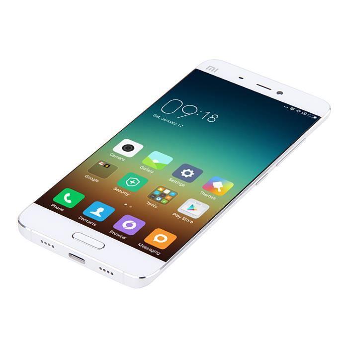 xiaomi mi5 m5 t l phone d bloqu 32g blanc achat smartphone pas cher avis et meilleur prix. Black Bedroom Furniture Sets. Home Design Ideas