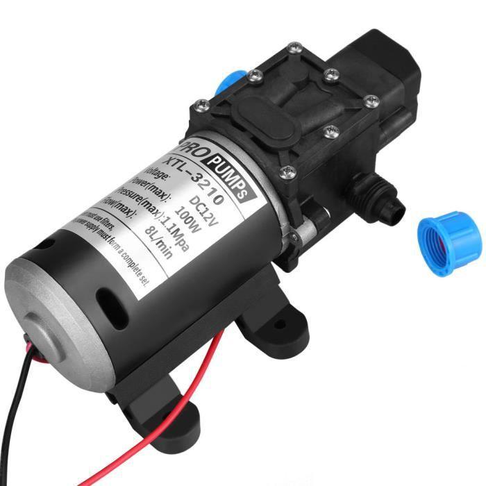 e8b21cc7570833 MIni 100W 12V 1600PSI Pompe à eau à haute pression PR laver voiture auto-amorçante  8L min - XY FR