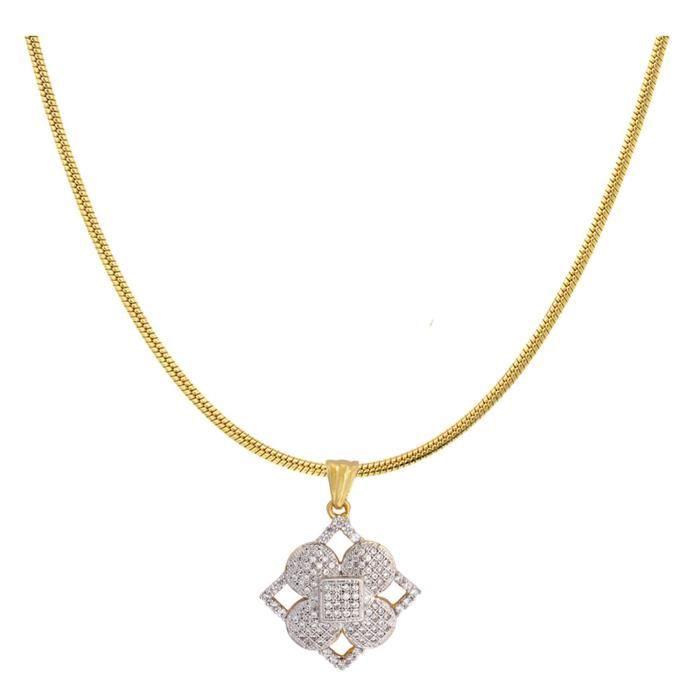 Plaqué or féminin royal Blend Pendant Set Pour Nl1101101g FCFNM