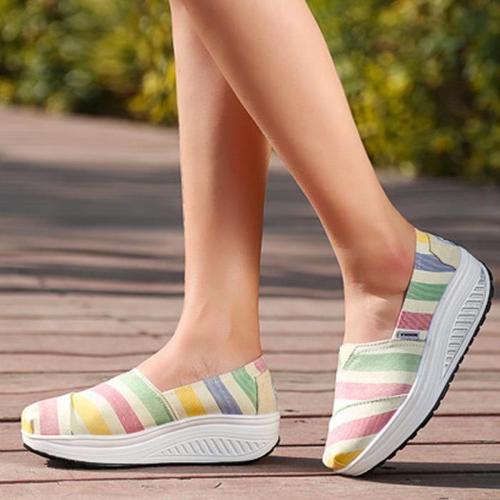 Chaussures Femme Printemps Été à fond épaiséChaussure FXG-XZ064Rose38