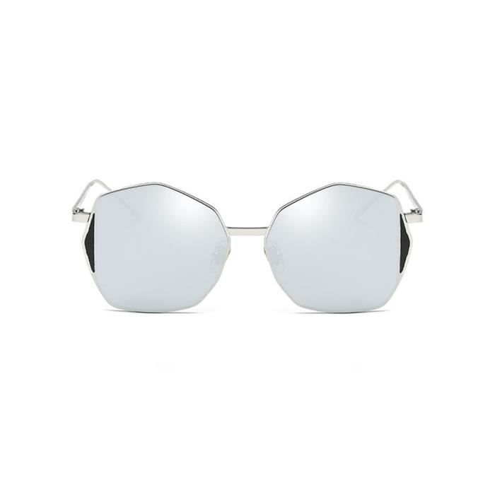 Deuxsuns® Womens Hommes Rétro Classique Forme Irrégulière Cadre Vintage Miroir Élégant Lunettes de Soleil@zf459