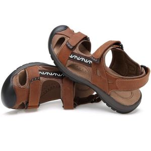 Sandales sport en cuir pour hommes Sandales d'été en plein air Pêcheur Respirant Sport Plage GQN4H Taille-41 dCFevy