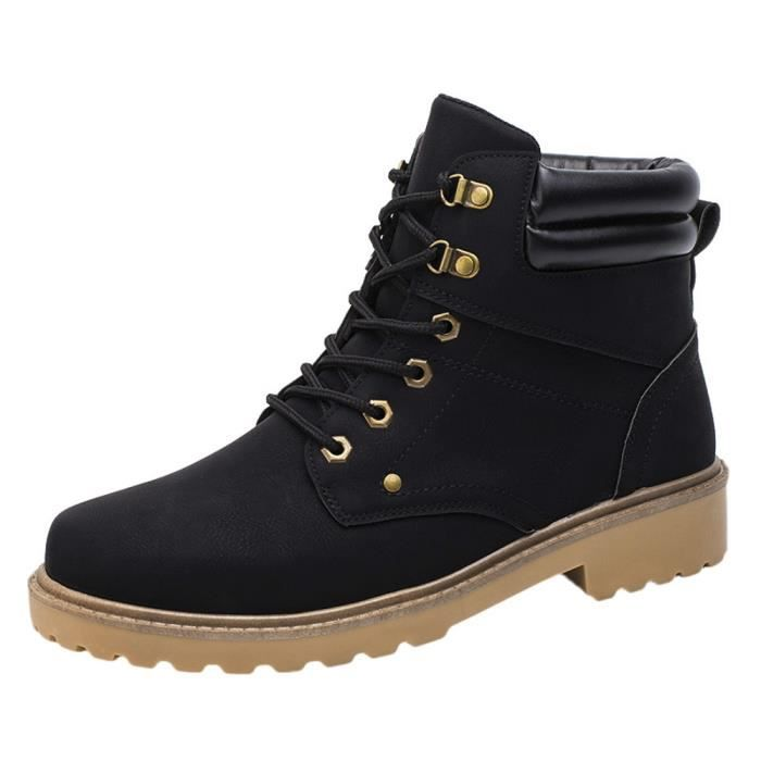 Hommes Low cheville garniture plate cheville automne hiver bottes occasionnels Martin chaussures@hyu-268