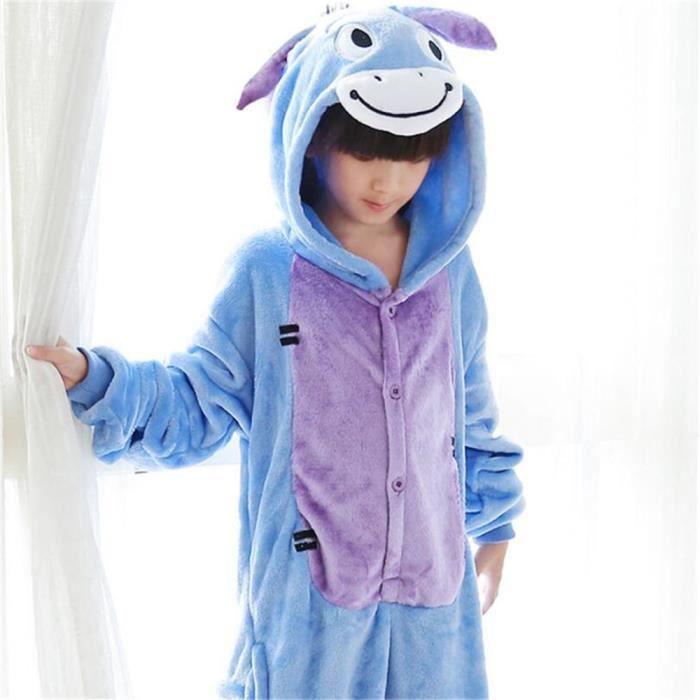Nuit Manches Capuche Pyjama Nouvelle Confortable Arrivee Animaux Hiver De Flanelle Kigurumi À Mixte Longues Âne Pajamas Robe xOtqwawS