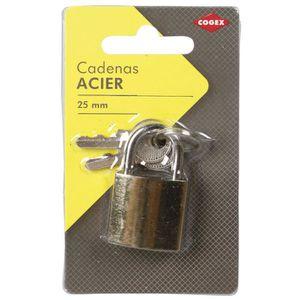 COGEX Cadenas en acier 25mm + 2 clés