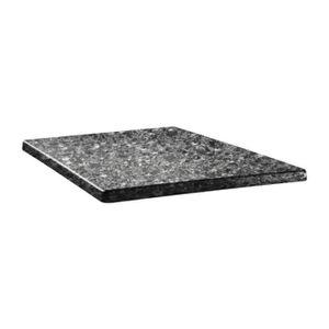 PLATEAU DE TABLE Plateau de table granite noir 70cm carré
