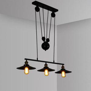 LUSTRE ET SUSPENSION UNI Métal Lustre Suspension E27 3 Lampes Plafonnie