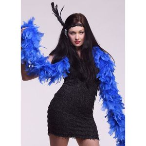 ACCESSOIRE DÉGUISEMENT Boa de plumes de luxe bleu Royal 20 s 326cad1ff18