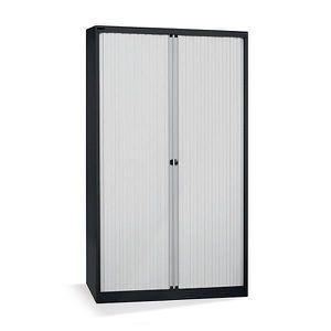 ARMOIRE DE BUREAU Bisley Armoire à rideaux - horizontal, noir profon