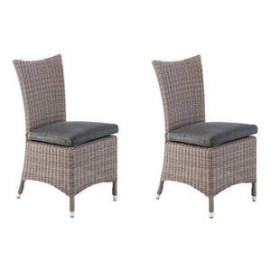 Free fauteuil jardin lot de chaises manille avec coussin - Housse coussin salon de jardin hesperide ...