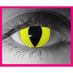 LENTILLES DE CONTACT LENTILLES Couleur Fantaisie Chat jaune Déguisement 7ce065f7be28