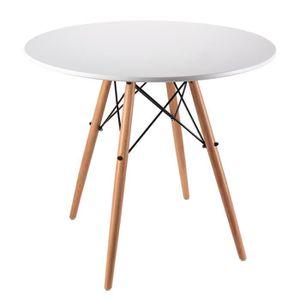 TABLE À MANGER SEULE Nidouillet Table de Salle à Manger ronde Table de