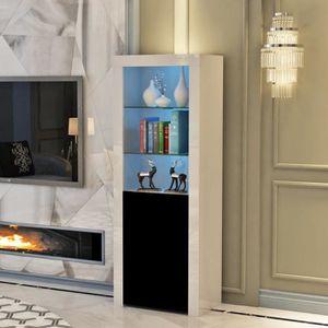 OUTAD Meuble de Salon Moderne Cabinet d\'affichage tablette en verre ...