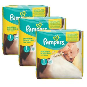 COUCHE Pampers New Baby Taille 1 Newborn 2-5kg 69 Couches