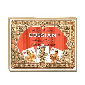 PORTE CARTE Piatnik 2134 - Cartes à Jouer - Golden Russian - 2