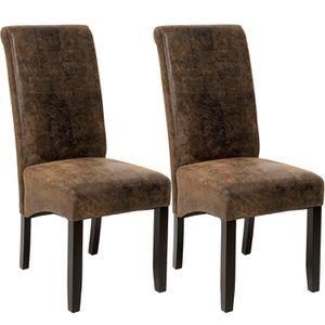CHAISE TECTAKE Lot de 2 chaises de salle à manger design
