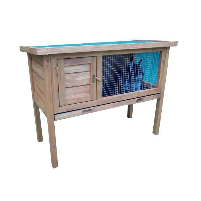 En bois - Dimensions : 84x37cm/92x45x70cm - Surface : 0,41m² - Coloris : teinte claire.CLAPIER