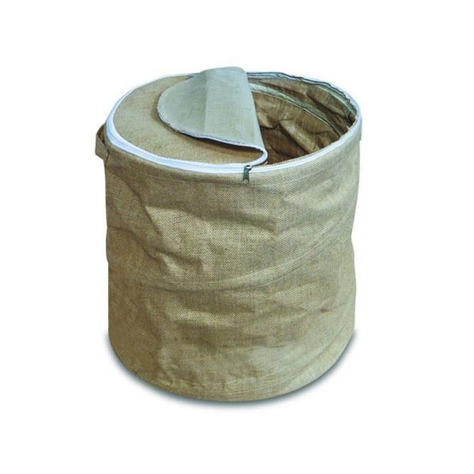 DELTA Sac à pellets Spirale en toile de jute beige