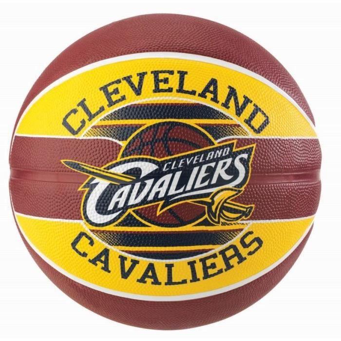 SPALDING Ballon de basket-ball NBA Team Cleveland Cavaliers - Grenat et jaune - Taille 7