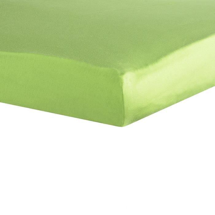 TROIS KILOS SEPT Drap housse - 40x80 cm - Vert