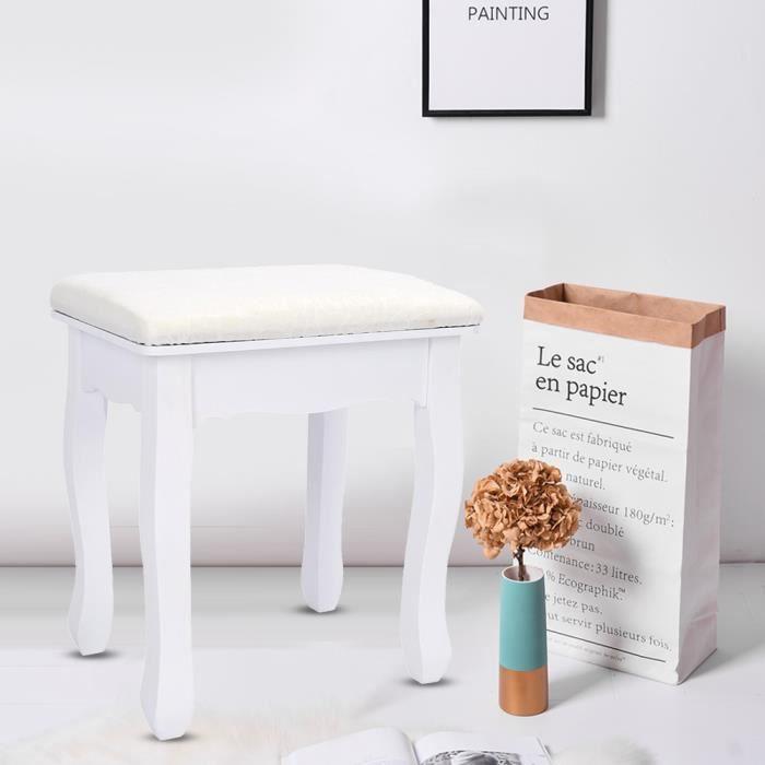 Fauteuil De Chambre à Coucher,avec Siège De Maquillage Tabouret De  Coiffeuse Vintage Chaise De Salle De  DQ FRANCE