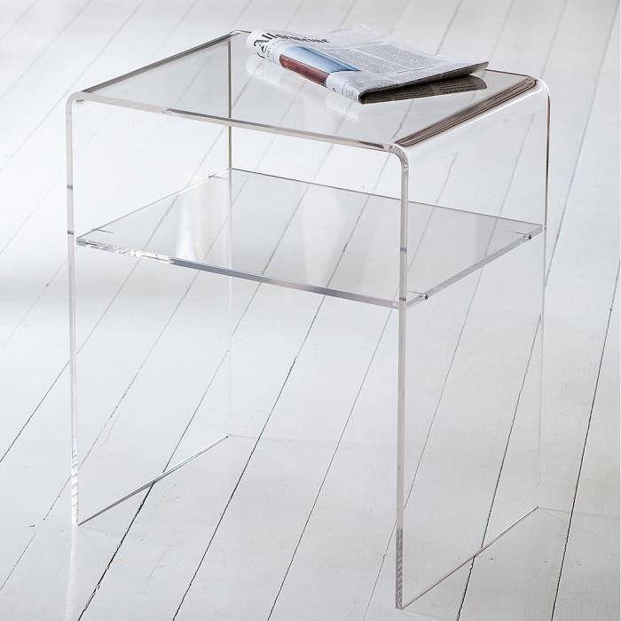 Table De Nuit Plexiglas table de chevet moderne table de chevet acrylique effet verre 29