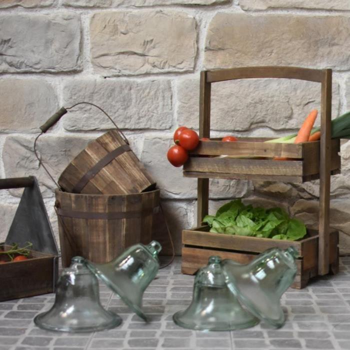 4 Cloches De Jardin En Verre O 20 Cm