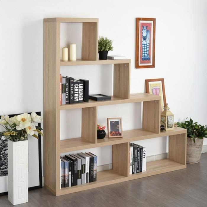 Etagère Escalier Chêne Clair Largeur 155 cm   Achat / Vente meuble