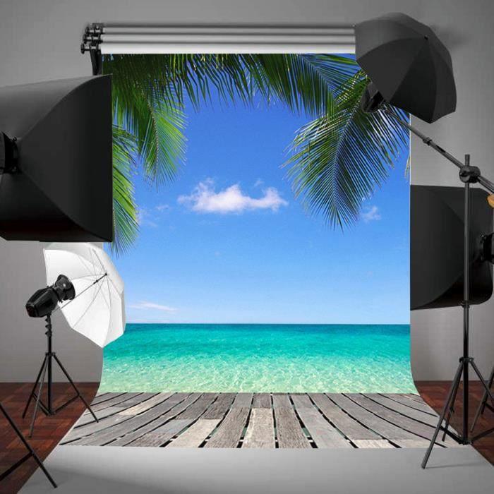 tempsa toile de fond backdrop tissu 90 150cm plage ciel. Black Bedroom Furniture Sets. Home Design Ideas