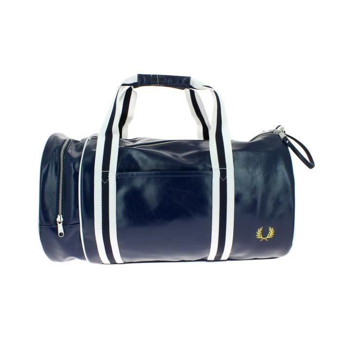 54963d6bcd58 Sac FRED PERRY classic barrel baril marine - Achat   Vente sacoche ...