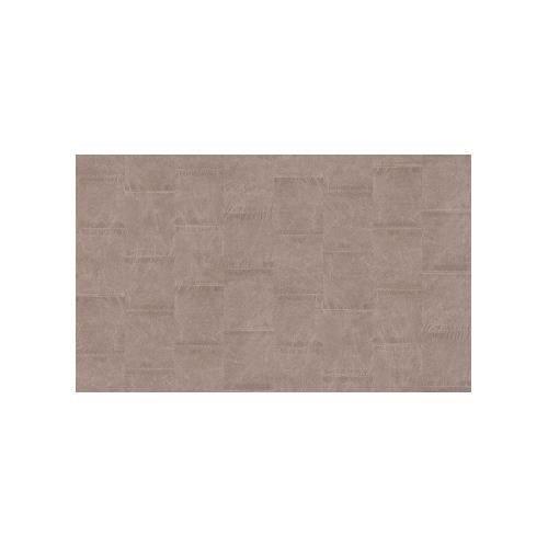 Charmant Papier Peint Imitation Cuir En Patchwork Taupe 10 M X 0,53 M