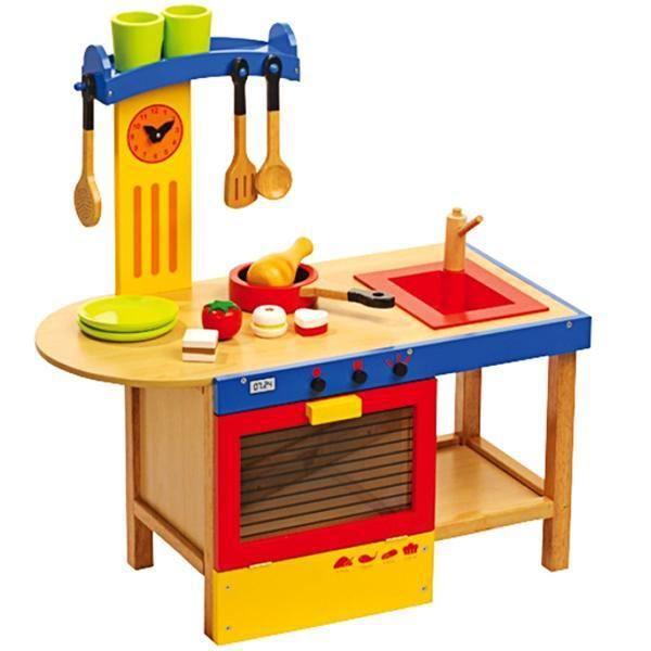 cuisine en bois pour enfant de 2 ans achat vente jeux et jouets pas chers. Black Bedroom Furniture Sets. Home Design Ideas