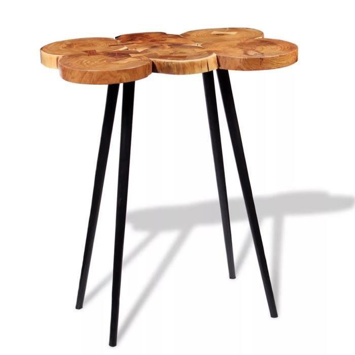 Table De Bar En Bois Table Haute De Cuisine Bar 90 X 60 X 110 Cm