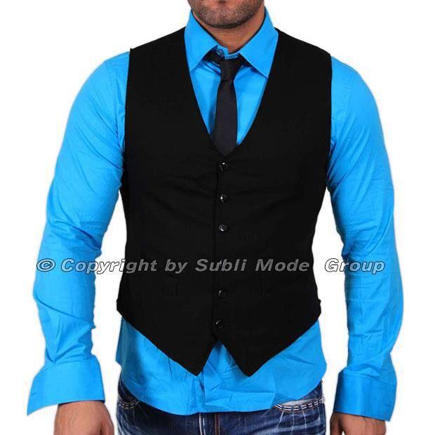 Gilet + Chemise + Cravate Homme ... Noir bleu Noir - Achat   Vente ... d614b99d3ec