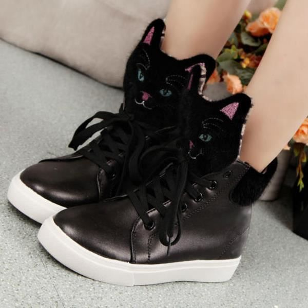 Haut-dessus lacets chaussures de sport cabestan...