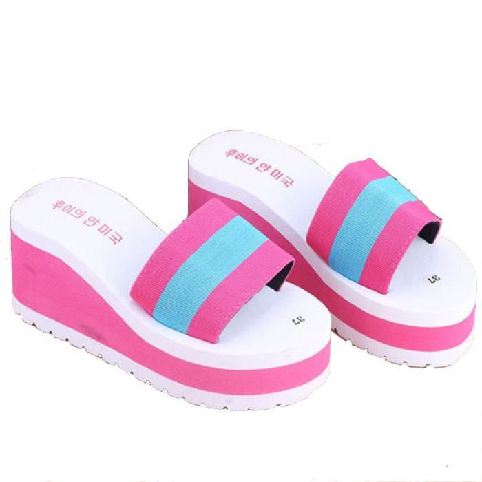 2017 l'été Nouveau Non-Slip Sandales Femme Pantoufles Pour Femmes Fond épais Intérieure Pantoufles Sandales