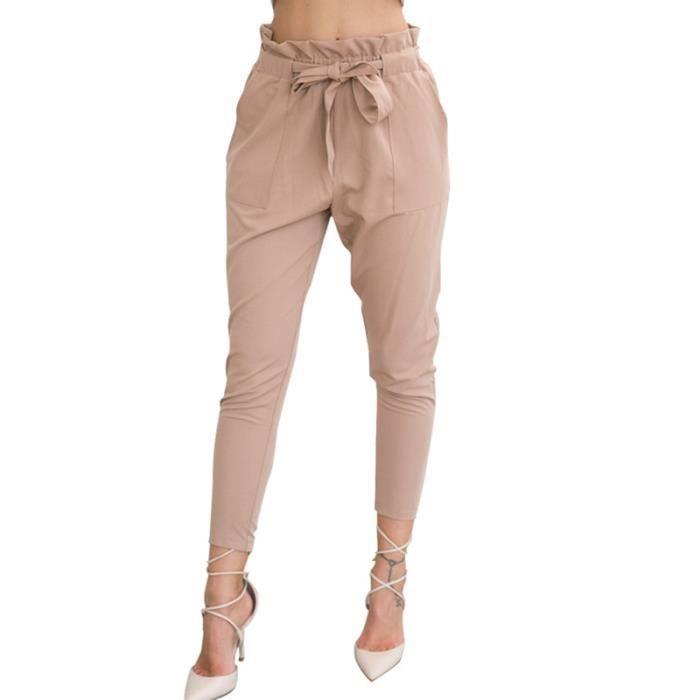 De Couleur Occasionnels Achat Slim Kaki Unie Pantalon Femmes sQrBCdxth
