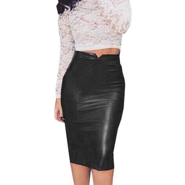 68c15d3be4f59e Libaib Femmes en cuir Jupe taille haute Parti Slim Jupe crayon