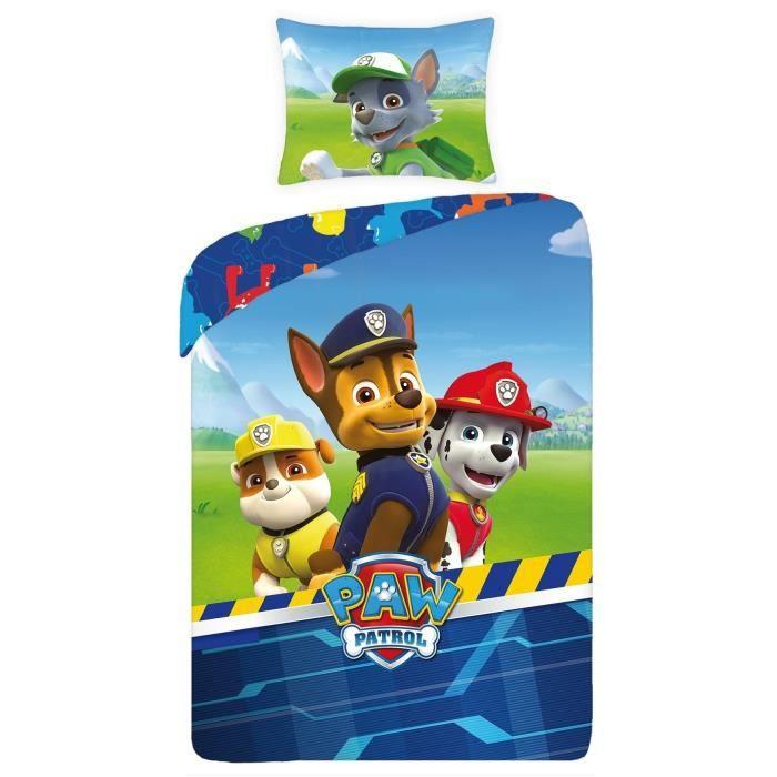 linge de lit paw patrol Paw Patrol parure linge de lit réversible 100% Coton housse de  linge de lit paw patrol