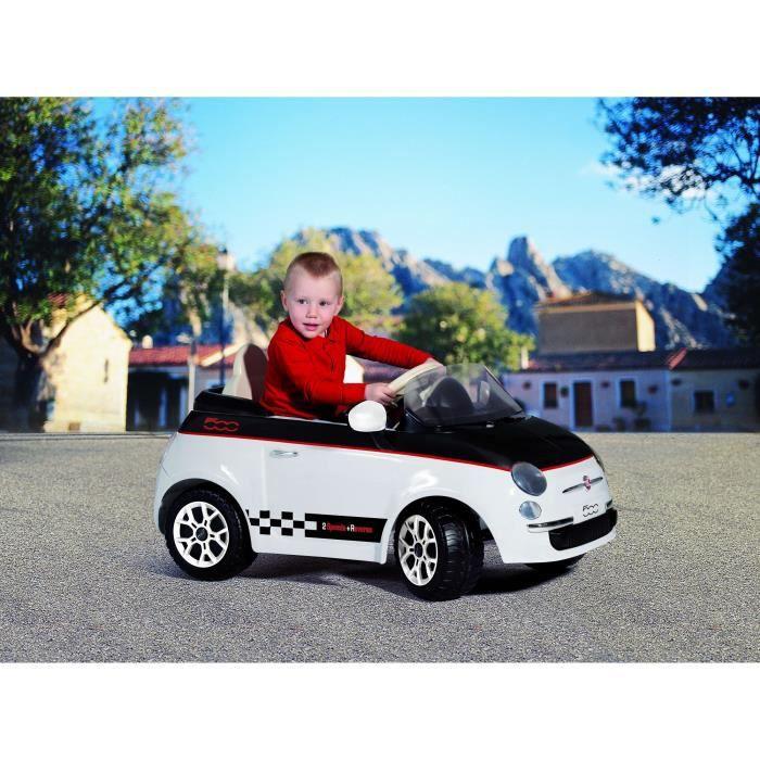 peg perego voiture electrique enfant fiat 500 blanche 12 volts achat vente voiture enfant. Black Bedroom Furniture Sets. Home Design Ideas