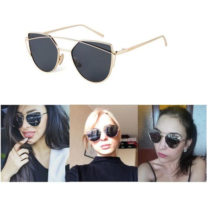 Populaire SHARPHY® Lunette de soleil femme marque designer noir ronde jolie  GB67