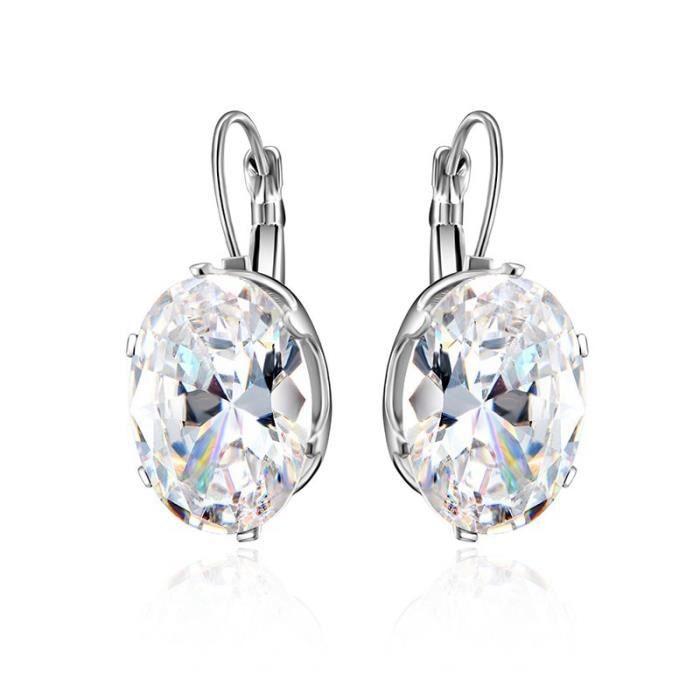 Nouvelle Mode Rétro autrichien Diamond Cristal Géométrique Forme charme fine