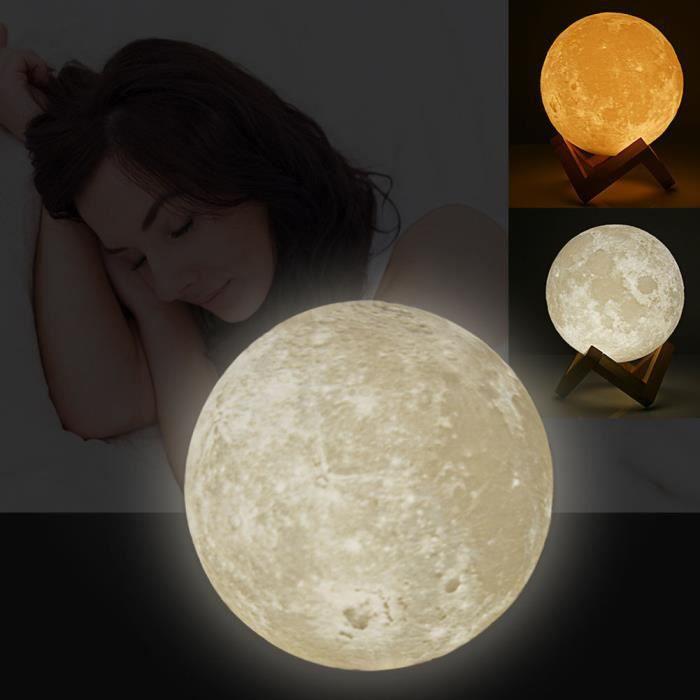 lampe magique en lune 3d usb led nuit lumi re moonlight valentines cadeau capteur tactile. Black Bedroom Furniture Sets. Home Design Ideas