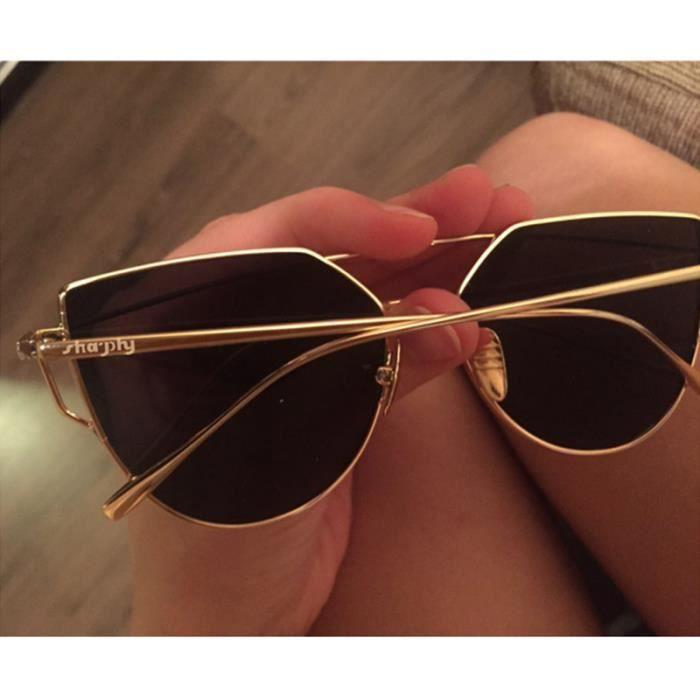 SHARPHY® Lunette de soleil femme marque designer noir ronde jolie magnifique  ... c2df7047c6e1